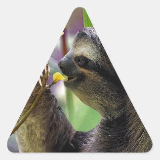 Three-Toed Tree Sloth Triangle Sticker
