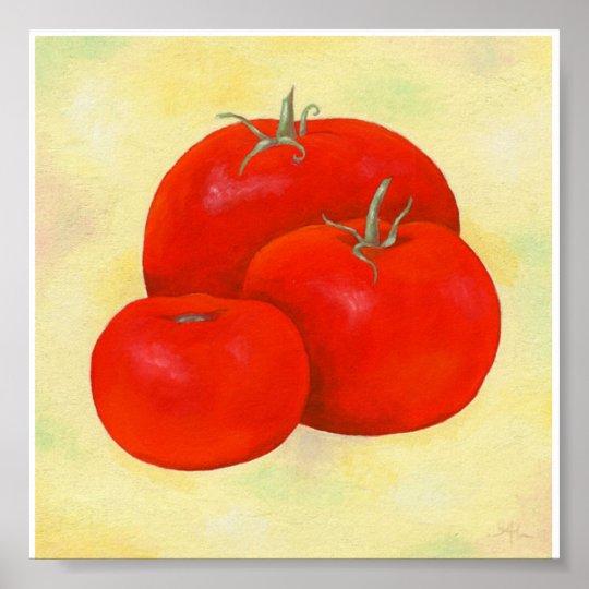 Three Tomatoes Painting print