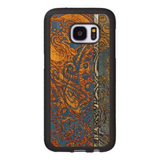 Three Tone Blue Jean Swirl Wood Samsung Galaxy S7 Case