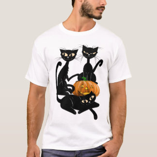 Three Transparent Black Cats Shirts