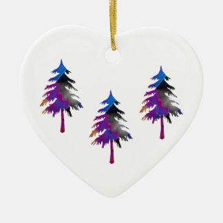 Three Trees Heart Ornament