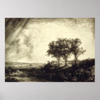 Three Trees - Holland 1643 Poster