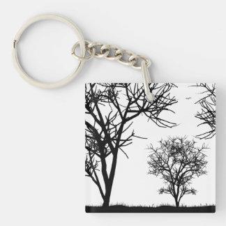 Three Trees Keychain