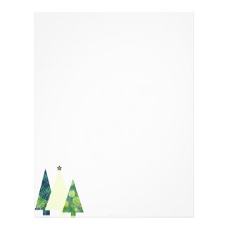 Three Trendy Crafter's Christmas Trees holiday Letterhead