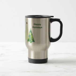 Three Trendy Crafter's Christmas Trees holiday Travel Mug