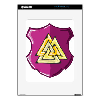 Three Triangles Shield Sketch Decals For The iPad
