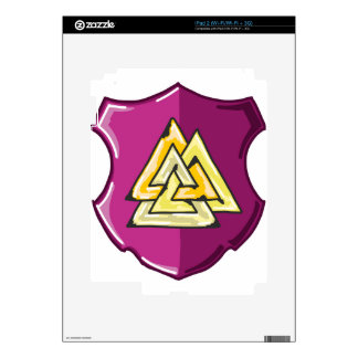 Three Triangles Shield Sketch Skins For The iPad 2