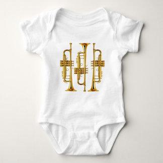 Three Trumpets Baby Bodysuit