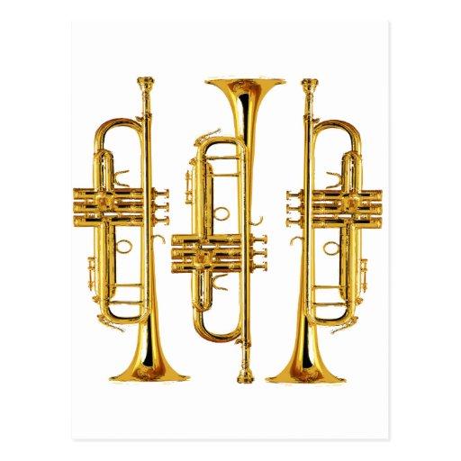 Three Trumpets Postcard