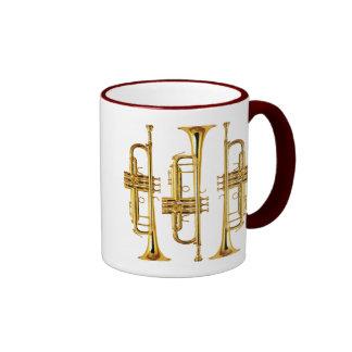 Three Trumpets Ringer Coffee Mug