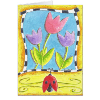 Three Tulips Card