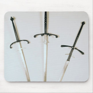 Three two-handed swords, 1570 mouse pad