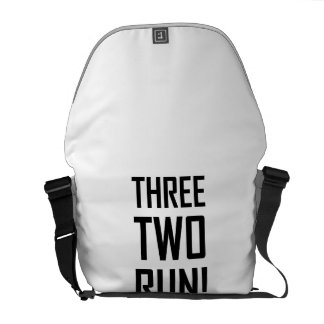 Three Two Run Messenger Bag