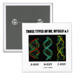 Three Types Of Me, Myself & I (A-DNA B-DNA Z-DNA) Pin
