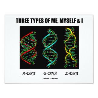 Three Types Of Me, Myself & I (A-DNA B-DNA Z-DNA) Card