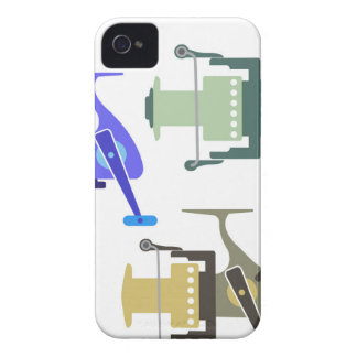 Three types of spinning reels vector illustration Case-Mate iPhone 4 case