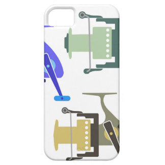 Three types of spinning reels vector illustration iPhone SE/5/5s case