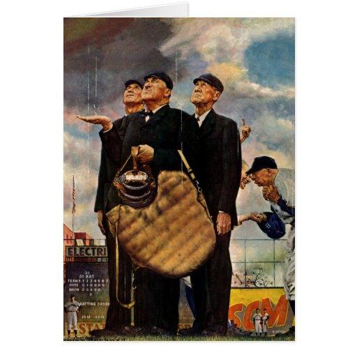 Three Umpires Greeting Card