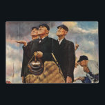 """Three Umpires Placemat<br><div class=""""desc"""">Artist: Norman Rockwell 