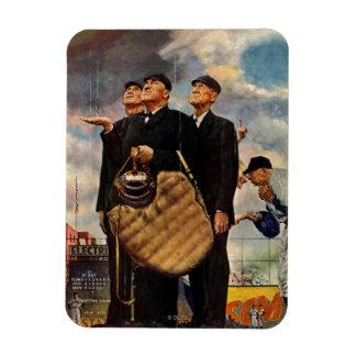 Three Umpires Rectangle Magnet