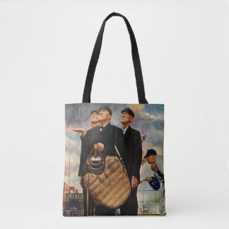 Three Umpires Tote Bag