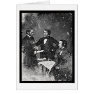 Three Unidentified Men Daguerreotype 1853 Greeting Card