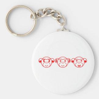 Three Unwise Monkeys (Pound, talk) Keychain