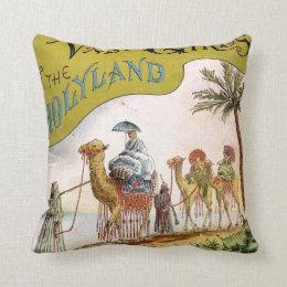 Three Vassar Girls in the Holyland Throw Pillow