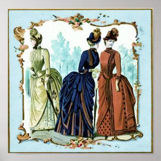 Three Victorian Ladies Poster