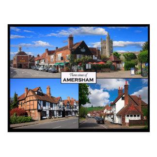 Three Views of Amersham Old Town Postcard