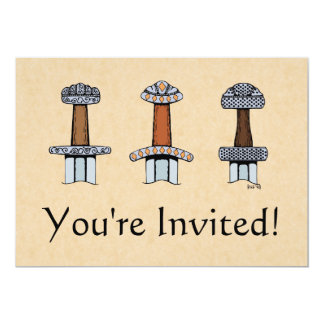 Three Viking Sword Hilts Card