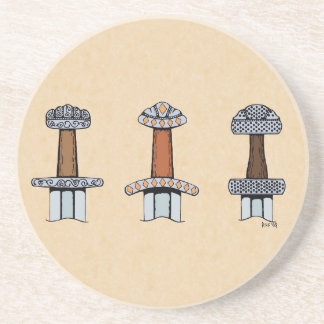 Three Viking Sword Hilts Coaster