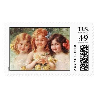 Three Vintage Darlings Postage