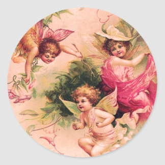 Three Vintage Flower Fairies Sticker