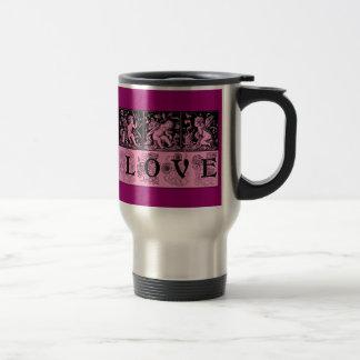 Three Vintage Images of Cupid Love Design Coffee Mug