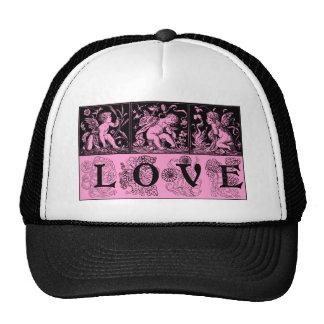 Three Vintage Images of Cupid Love Design Trucker Hat