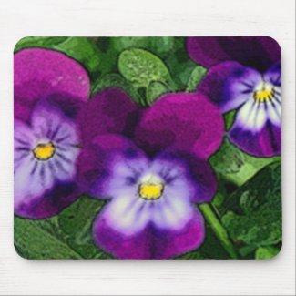 Three Violets Mousepad mousepad