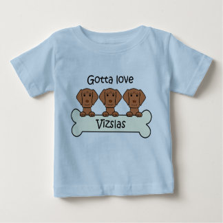 Three Vizslas Baby T-Shirt
