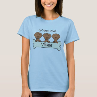 Three Vizslas T-Shirt