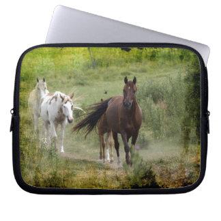 Three Walking Horses & Field Animal-lover's Gift Computer Sleeve