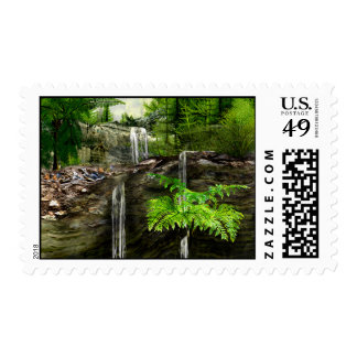 Three water falls stamps