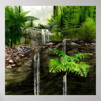 Three Water falls Posters