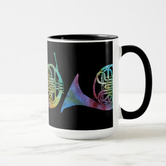 Three Watercolor French Horns Mug