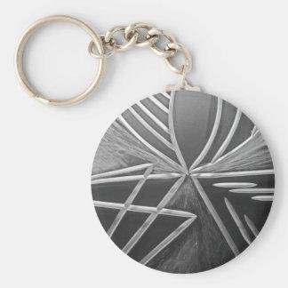 Three Ways Basic Round Button Keychain