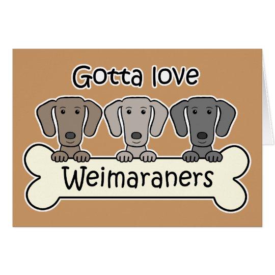 Three Weimaraners Card