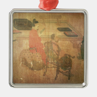 Three Well-Read Men from Lieou-Li T'ang Metal Ornament