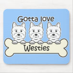 Three Westies Mouse Pad