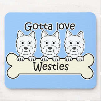 Three Westies Mousepads