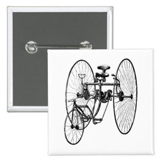 Three Wheel Bicycle Tricycle 2 Inch Square Button