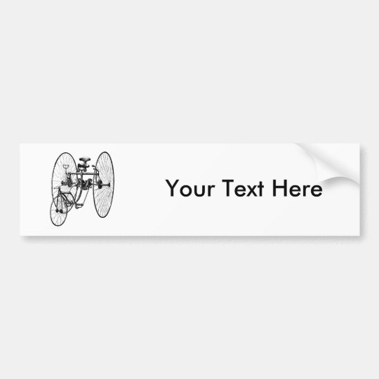 Three Wheel Bicycle Tricycle Bumper Sticker